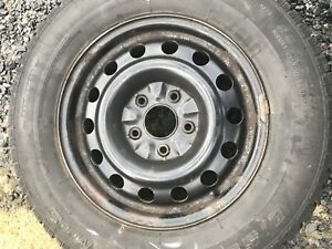 "4- Steel rims are 16"" 5x127 tires  225/70R 16 winter"