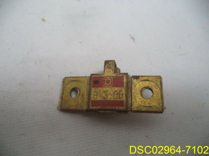 Qty = 2: Square D B3.00 Overload Heater Element Relays
