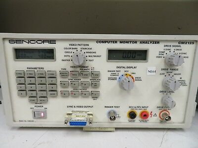 Sencore - Model Cm2125 - Computer Monitor Analyzer - Working - Ne64