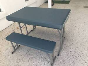 Camping Foldup Table and Bench set; excellent condition