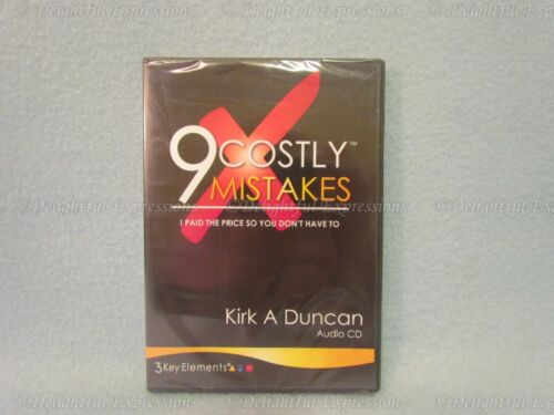 NEW-9 Costly Mistakes Audio CD by Kirk Duncan 3 Key Elements Life Coaching