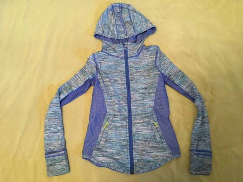 Ivivva 7 Hoodie Fitness Jacket Girls Full Zipper Purple Dance Gymnastics Active