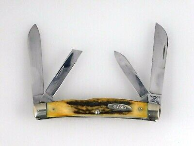 Vintage Case XX 1965-69 Congress 4 Blade Knife 54052 with Stag Handles
