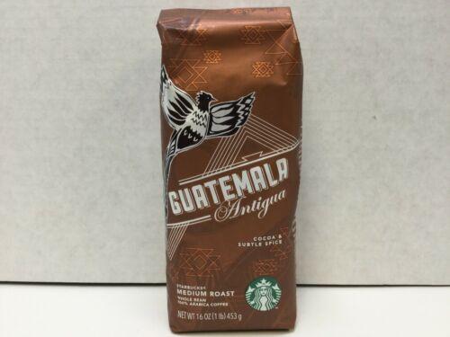 Starbucks Guatemala Antigua Whole Bean Coffee Medium Roast, 1 lb Bag, APRIL 2021