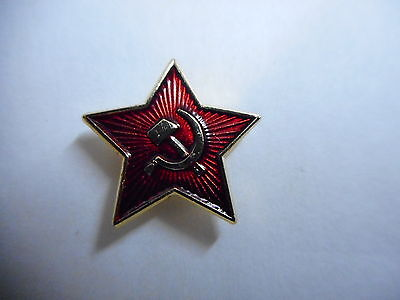 Soviet Star pin badge. Hammer and Sickle design. USSR Russia Russian