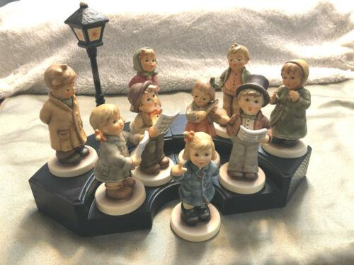 Goebel Hummel KINDER CHOIR Set of 9 Figurines and 2-Piece Base w/ Lamplight