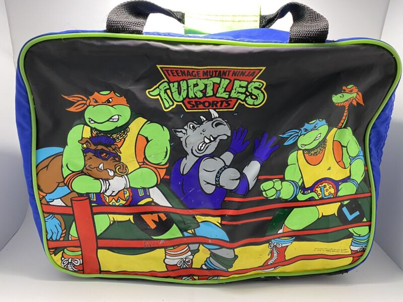 TMNT 1993~SUPER RARE DUFFEL/SHOULDER BAG SAMPLE NOT FOR RESALE