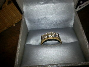 Brilliant Ladies14kt.Gold Double Row 1 ct Eval Certif. $2850.00