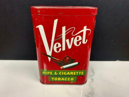 Vintage Velvet Smoking Tobacco Vertical Pocket Tin