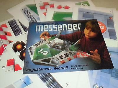 Papier Modellbau : Raumfähre MESSENGER , vorgestanztes Modell , 1970er Jahre /G/