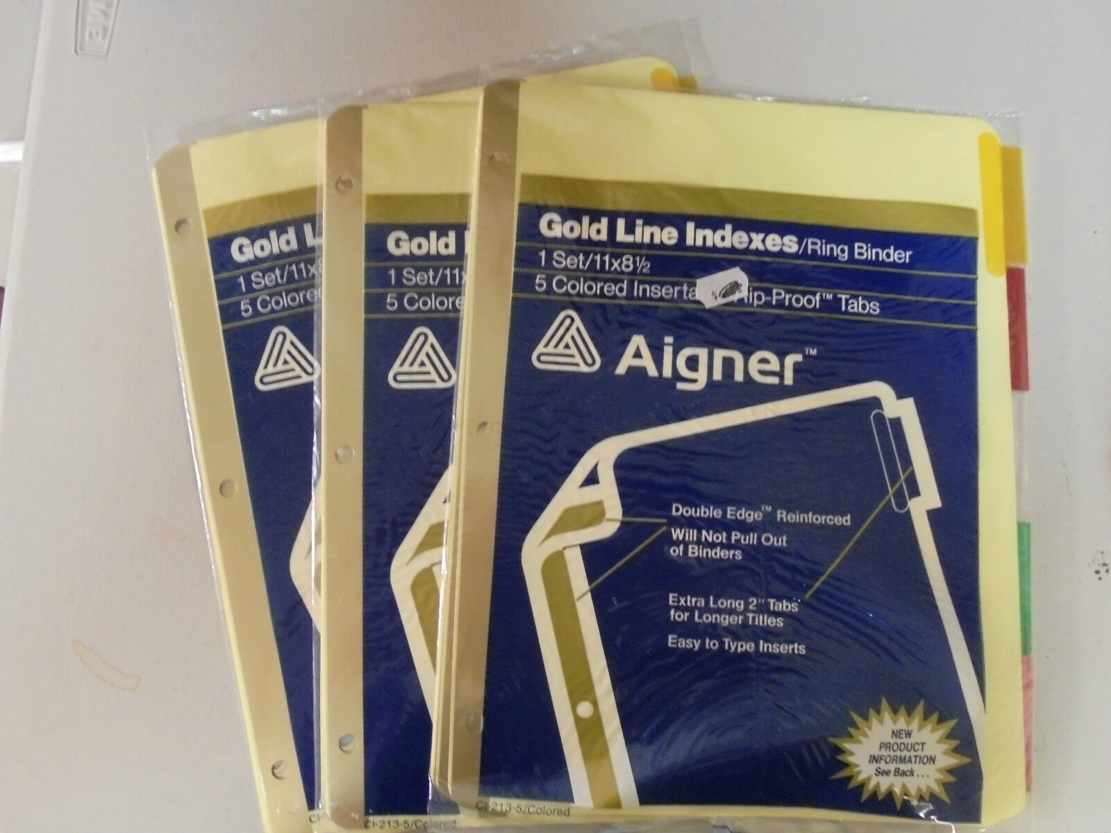 3 Aiger Gold Line 5 Colored Insert Rip-Proof 2
