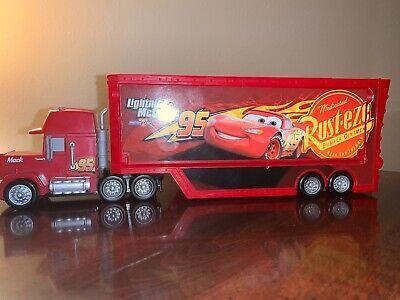 Disney Pixar Cars 3 Lightning McQueen's Travel Time Mack Hauler Truck* EUC*