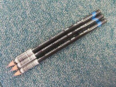 Set of 3 x Derwent Watersoluble Sketching Pencils - Light, Medium and Dark Wash
