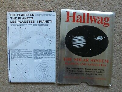 HALLWAG THE SOLAR SYSTEM PLANETS & SATELLITES 1970 VERY RARE