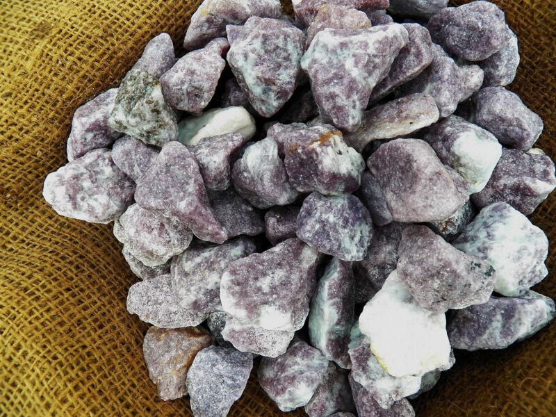 3000 Carat Lots of Lepidolite Rough - Plus a FREE Faceted Gemstone