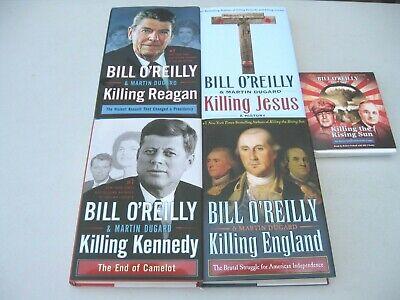 Lot 4 Bill O'Reilly Killing Books Reagan Kennedy Jesus England + Rising Sun CD