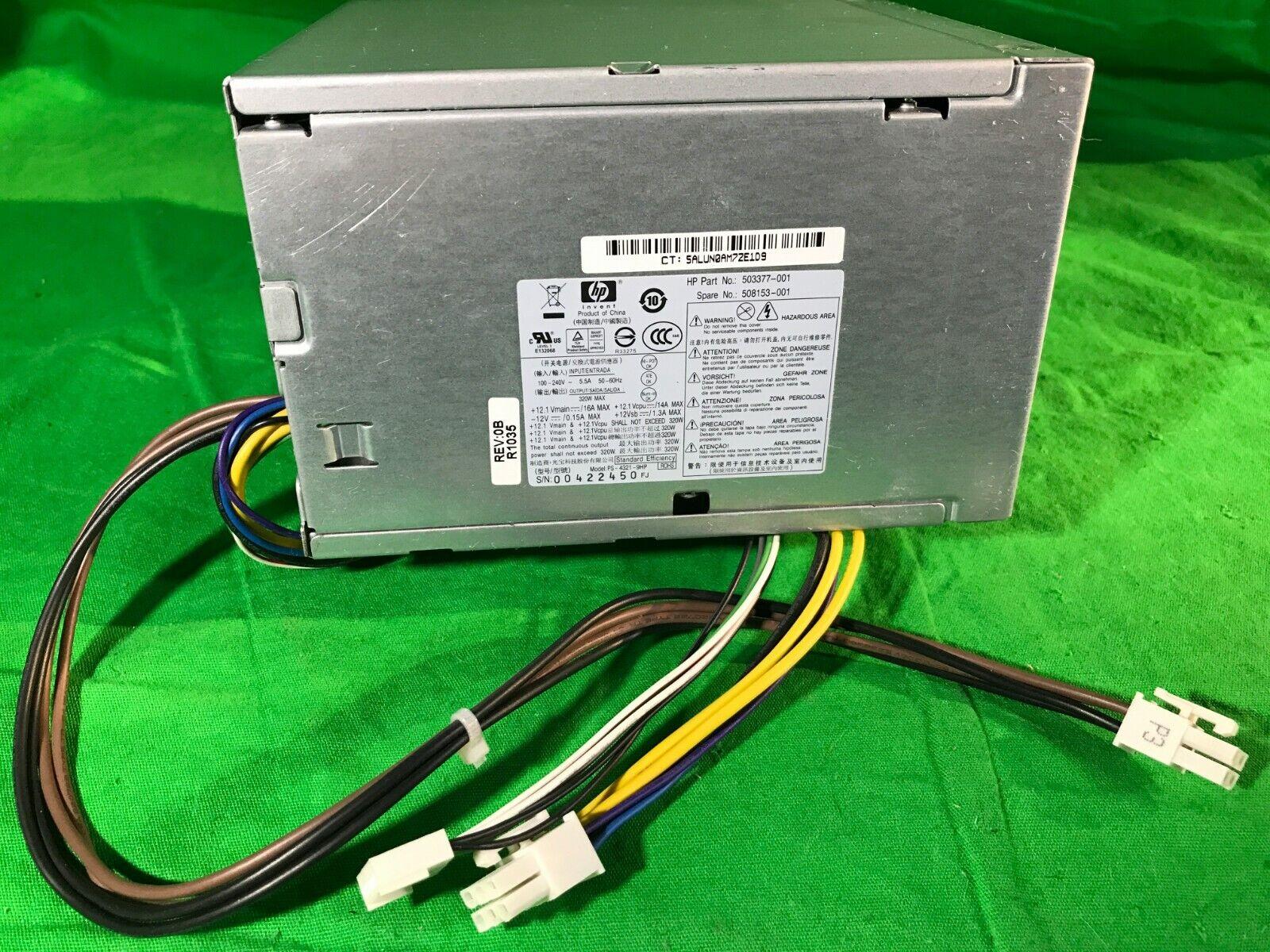 Genuine HP DPS-320JB A  Computer Power Supply 320W  503377-001