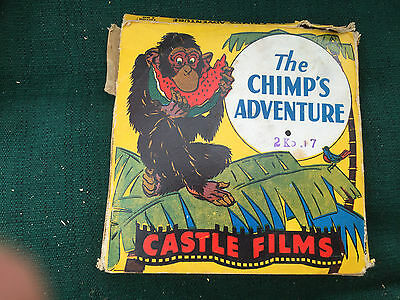 VINTAGE 1940's CASTLE FILMS ZIPPY THE CHIMP The Chimp's Adventure 8MM B & W