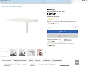 Norberg Wall-Mounted drop leaf table