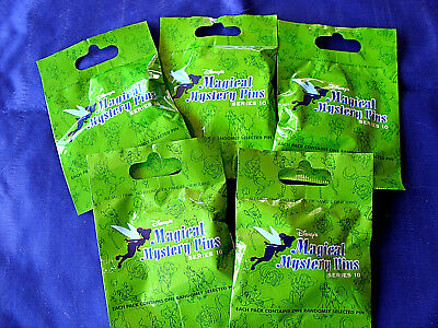 Disney * MAGICAL MYSTERY PINS - SERIES #10 * 5 PACKS * NEW Mystery Pack Pins