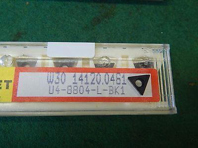 5 Komet W30 14120.0461 U4 8804 L Bk1 Carbide Inserts