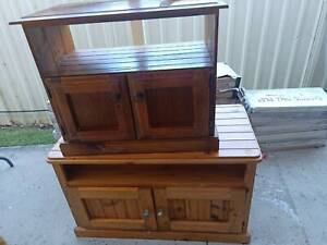 Solid Timber TV units x 2