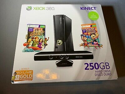 Microsoft Xbox 360 250GB 250 GB Game Console New Factory Sealed