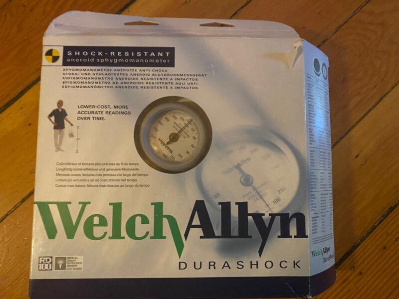 Welch Allyn DS44-11 Aneroid Sphygmomanometer Durashock Large Adult Cuff / Bronze