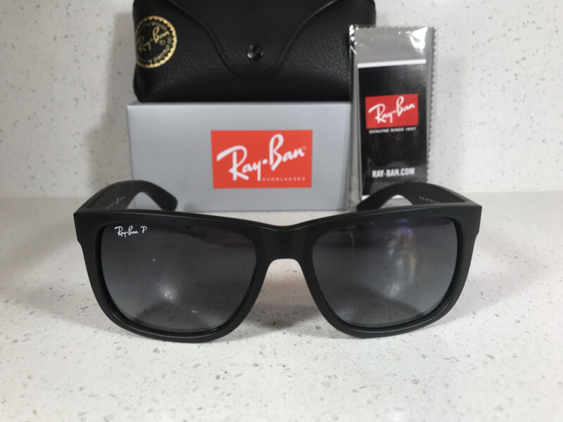 New Ray-Ban Classic Justin Black Frame W/ Black Polarized Lens RB4165 622/T3