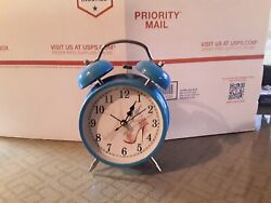 France Paris Eiffel Tower Alarm Clock Metal Desk Table Clock BRAND NEW UNUSED!!