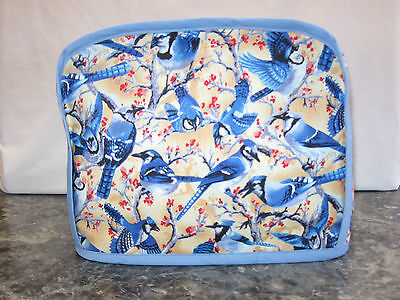 Blue Jays Birds cotton fabric Handmade 2 slice toaster cover (ONLY)