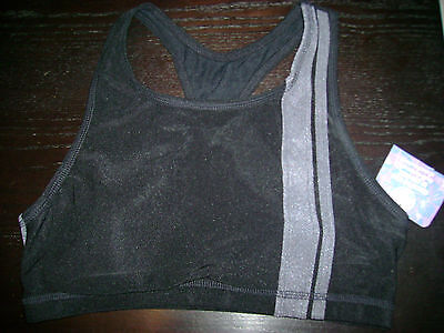 Beautiful woman's black and grey sports bra by Cherokee size 12 - Beautiful Cherokee Woman