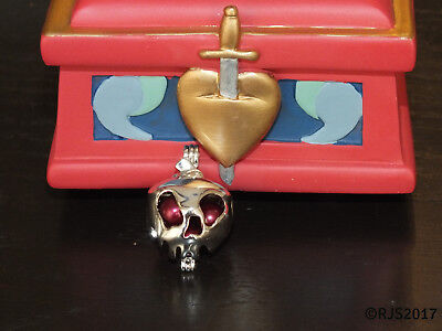 Poison Apple Pearl Cage Locket Pendant Snow White Witch Hag Queen CHARM ONLY