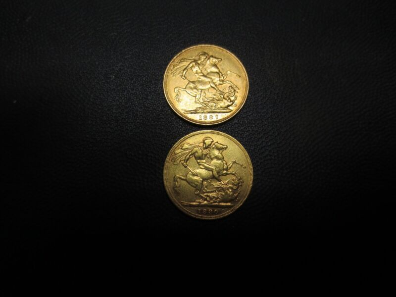 Jubilee head Victoria gold sovereigns(Royal Mint)