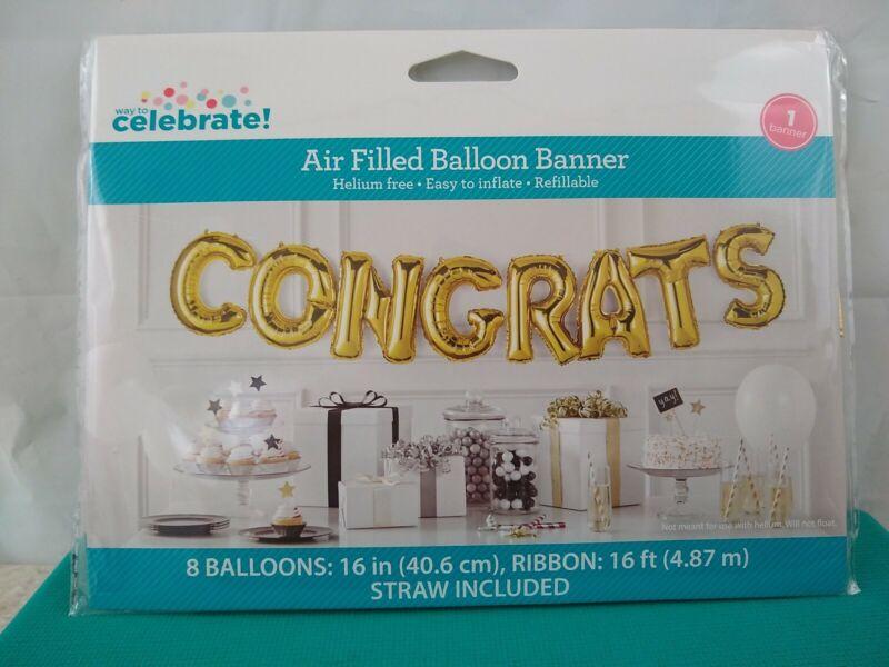 CONGRATS  Air Filled Balloon BANNER