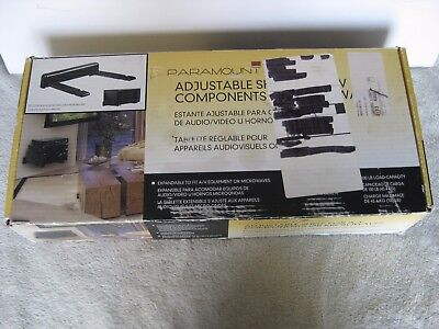 Peerless Paramount PS200 A/V wall mount Component Shelf Home Black floating