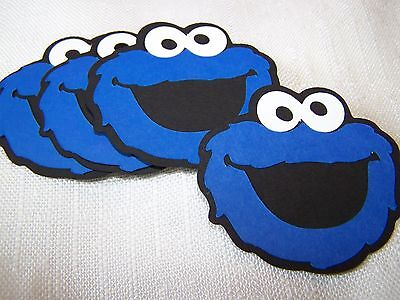 Cookie Monster party decorations 6 in. face Sesame Street (4)