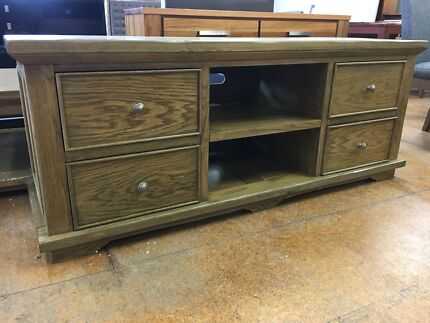 BRAND NEW Oak Entertainment Unit