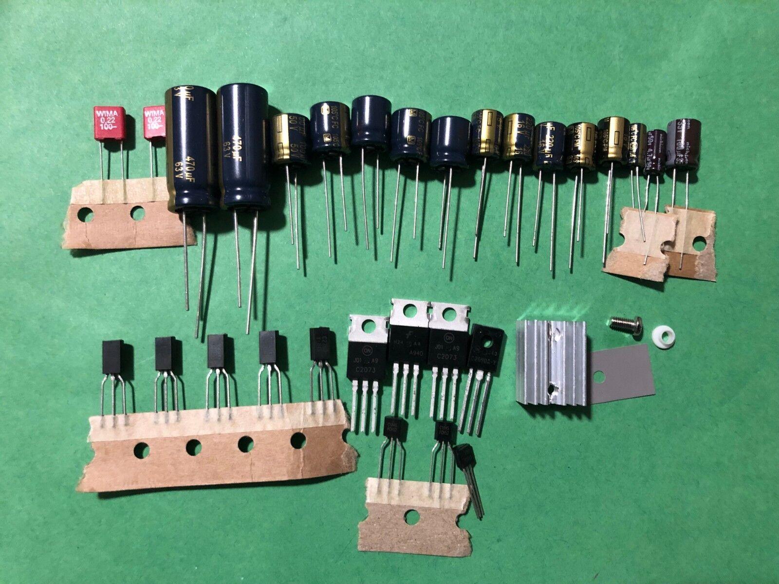 Photo Pioneer SX-750 Hum Repair Kit Capacitor Upgrade High-Quality Receiver Recap Set