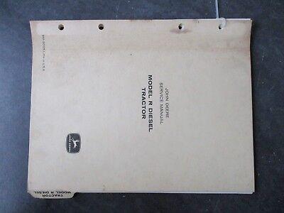 John Deere R Diesel Tractor Service Manual