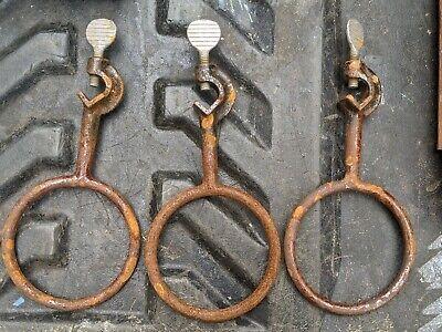 2 Fisher 4 Cast Iron Lab Beaker Retort Ring Holder Clamp New Old Stock Oxi