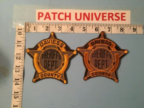 LOT OF TWO DIFFERENT DAVIESS  COUNTY KY SHERIFF SHOULDER PATCHES   L059