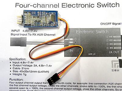 Dr.Mad Thrust 4 Kanal Ein Aus Schalter E-Schalter RC Empfänger Umschalter Switch