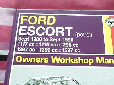 ford  escort workshop owners manuall