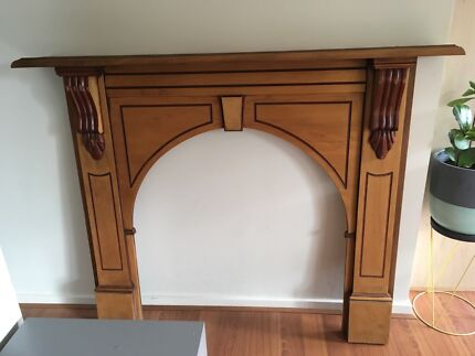 Wooden Victorian fireplace mantle, good condition
