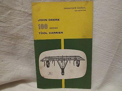 Vintage John Deere Operator's Manual 100 Series Tool Carrier