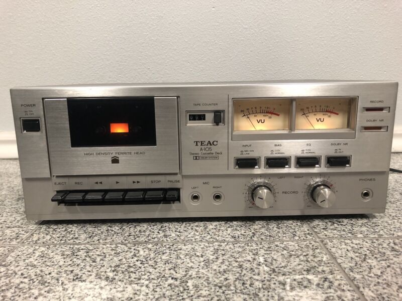 Teac A-105 Dolby Cassette Deck - AMAZING CONDITION!