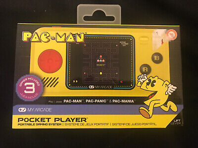 NEW My Arcade Pac-Man Pocket Player Portable Gaming 3 Games Sealed Unopened