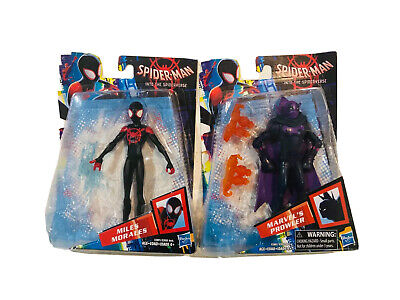 """Spider-Man 6"""" Action Figures Into the Spider-Verse Lot 2 Miles Morales Prowler"""