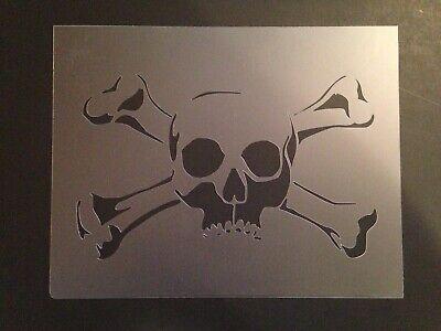 Skull #13 Stencil 10mm or 7mm Thick, skulls, halloween, Crafts, - Halloween Skull Stencils